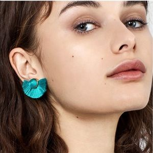 BAUBLEBAR NWT Turquoise Fringe Tango Stud Earrings